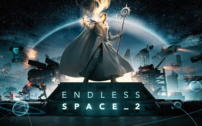 Download wallpapers Endless Space 2, art, 2017 games, poster, strategy