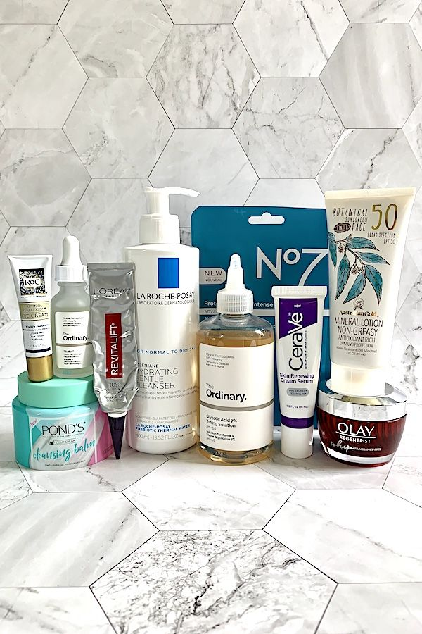 From Vitamin C And Retinol To Peptides And Acids These Affordable Drugstore Products Are A Anti Aging Skin Care Anti Aging Skin Products Skin Care Essentials