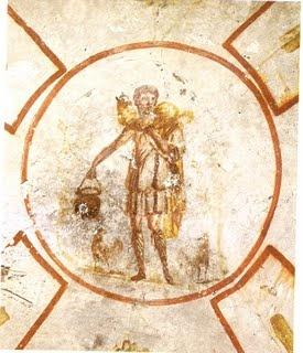 Arte Paleocristiano, Cripta de Lucina, Catacumba de San Calixto, siglo II