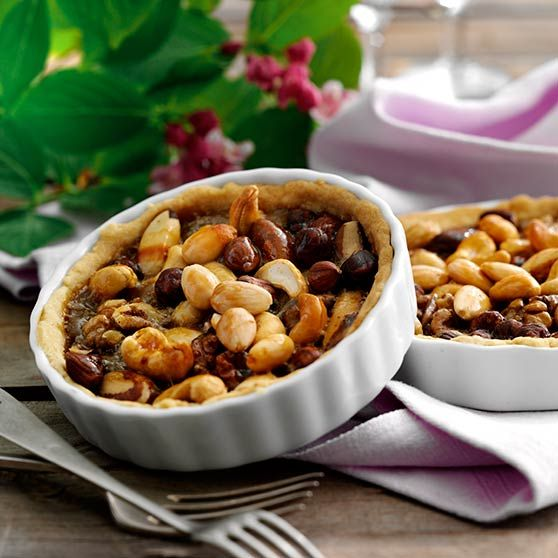 Æbletarteletter med nødder - Opskrifter