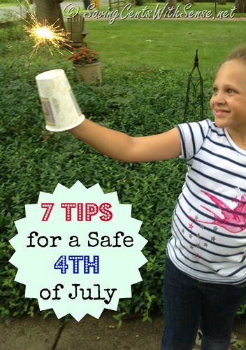 7 Tips for a Safe Fourth of July - tips to help keep your #kids safe #4thofJuly