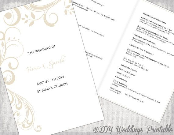 The 25+ best Diy wedding program template ideas on Pinterest - programs templates free
