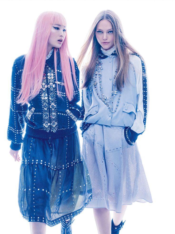 Anna Ewers, Sasha Pivovarova, Grace Hartzel, Fernanda Ly by Mikael Jansson for Vogue US February 2016 2