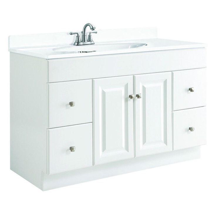 D Unassembled Vanity Cabinet Only In White Semi Gloss