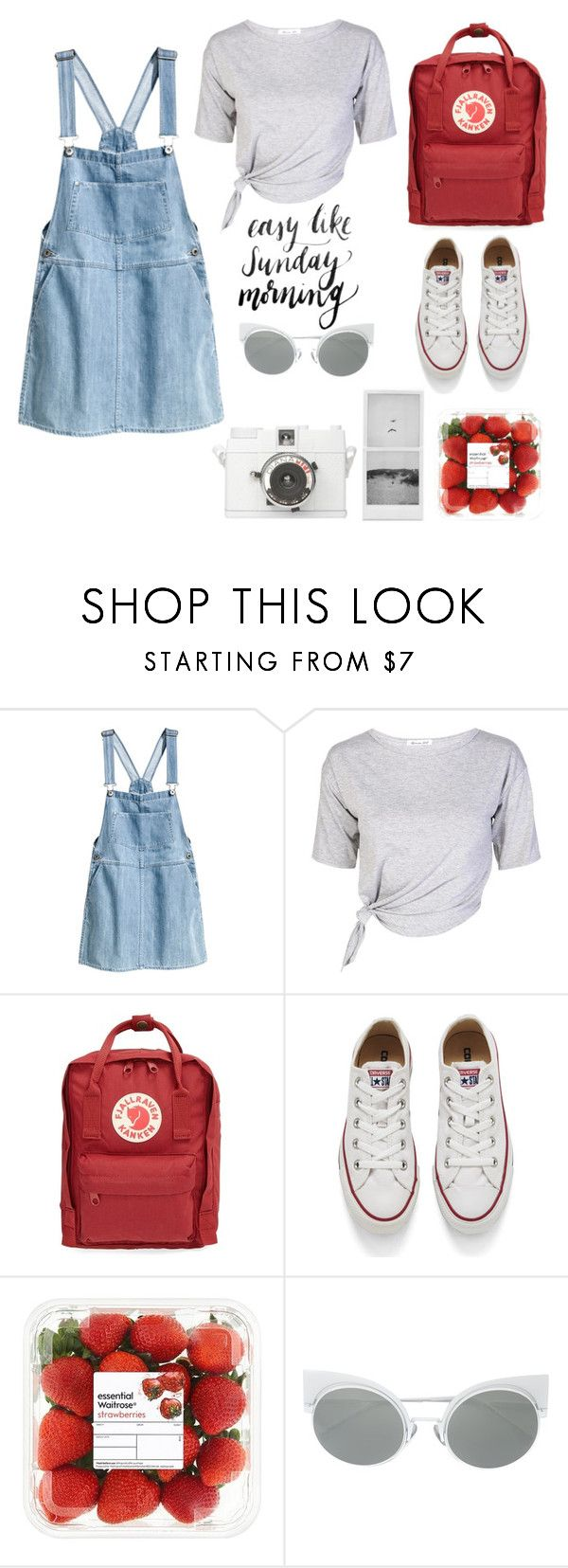 """Untitled #19"" by darya-andreea ❤ liked on Polyvore featuring H&M, Fjällräven, Converse and Lomography"