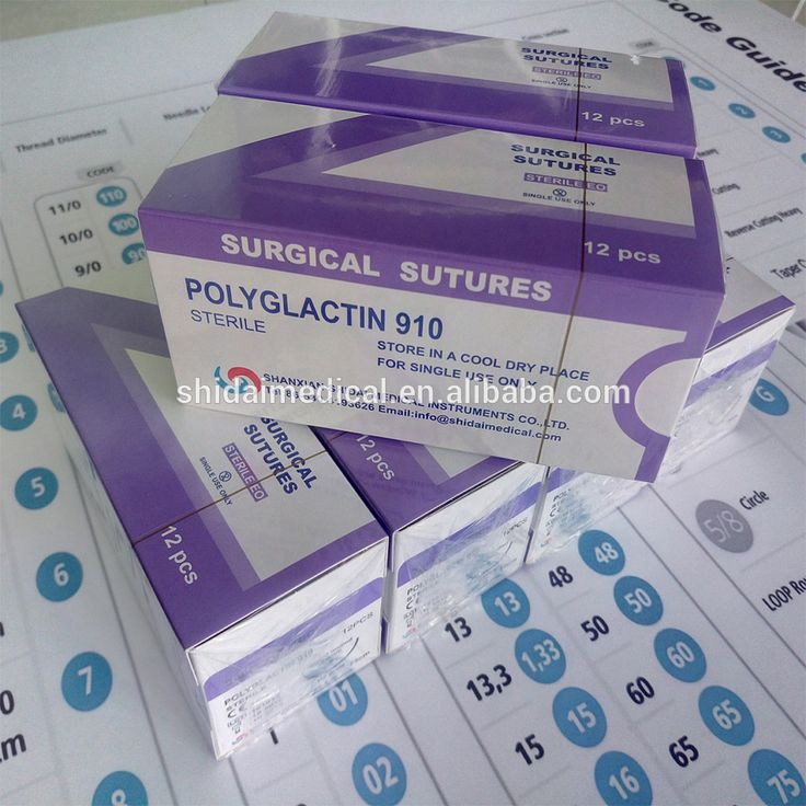 OEM Absorbable Braided Medical PGA Surgical Suture with needle
