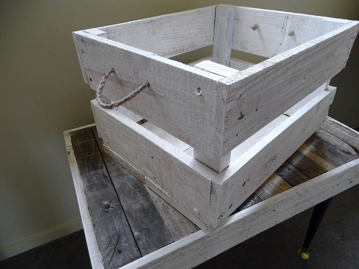 A stylish timber crate with a rustic, reclaimed design. These versatile crates can be stacked to create shelves, provide stylish storage in any room, and also make lovely little side  tables.