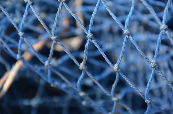 Visnet in Calete de Velez #blauw