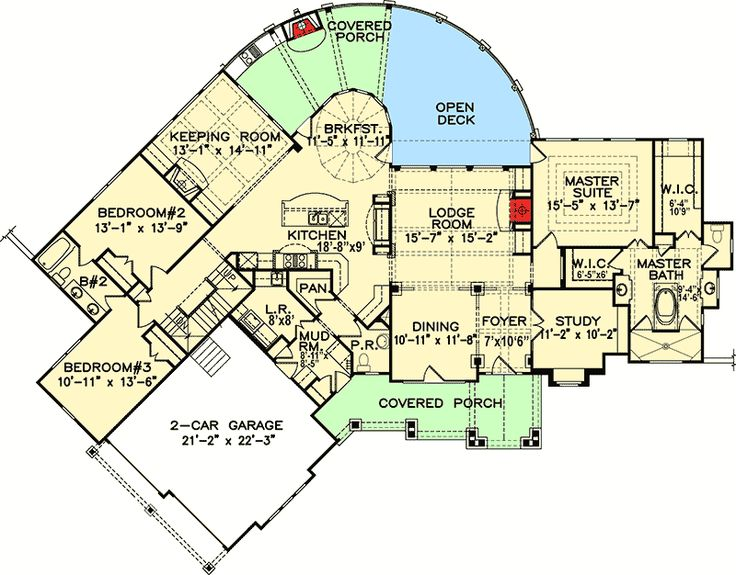 1000 images about house plans on pinterest bonus rooms for Award winning floor plans