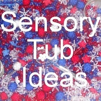 A link to 59 different sensory tub ideasSensory Tables, Worldwide Classroom, Sensory Tubs, Schools, Sensory Bins, Kids, Tubs Ideas, Bins Ideas, Preschool