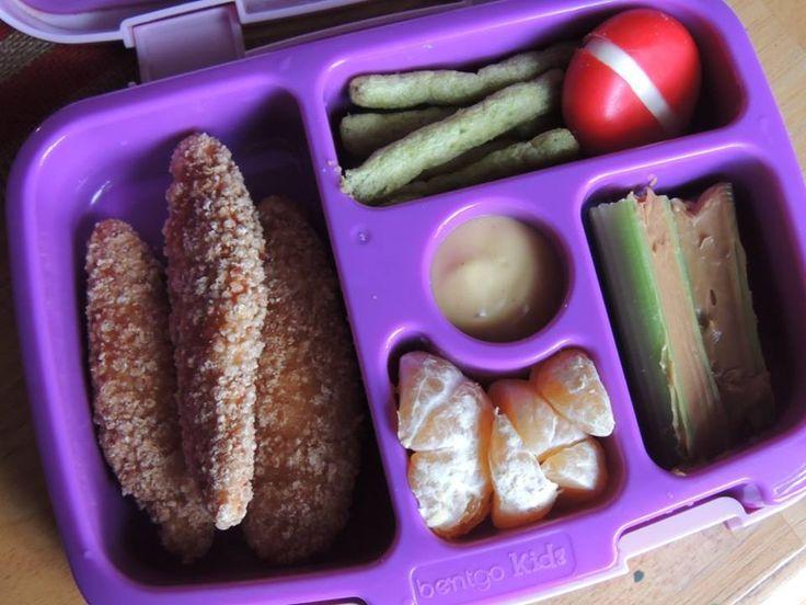 11/29/16 Chicken Strips w/ honey mustard Snap Pea Crisps Babybell Celery w/ peanut butter Cutie