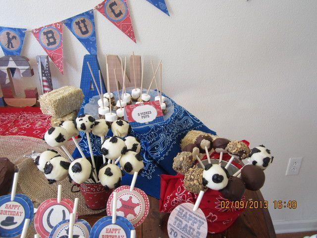 Cake pops at a Cowboy Party #cowboy #cakepops