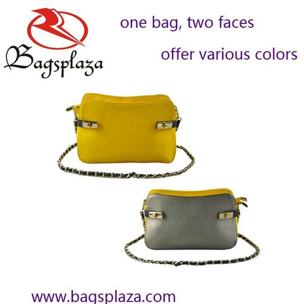 Dual-face design chain clutch bag ,sling bag