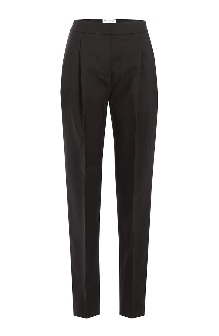 VIONNET Tapered Virgin Wool Pants. #vionnet #cloth #pants