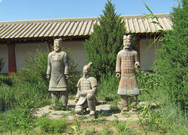 warrior statues