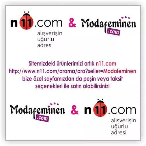 Sitemizdeki ürünlerimizi artık n11.com http://www.n11.com/arama/ara?seller=Modafeminen bize özel sayfamızdan da peşin veya taksit seçenekleri ile satın alabilirsiniz!  #n11 #Ortaklik #Taksit #Yeni #Kampanya