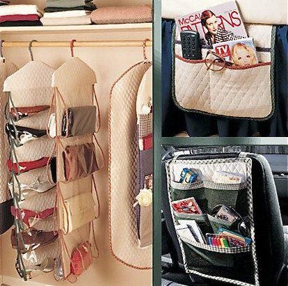 Home Car Closet Organizer Sewing Pattern Garment Bag Shoe Purse Organizers