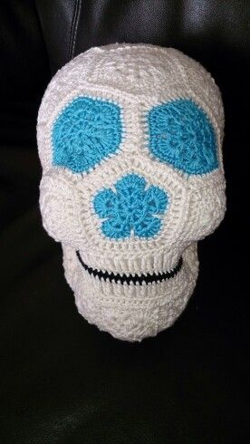 Crochet Skull. Available from Crotchety Things on Facebook and Etsy