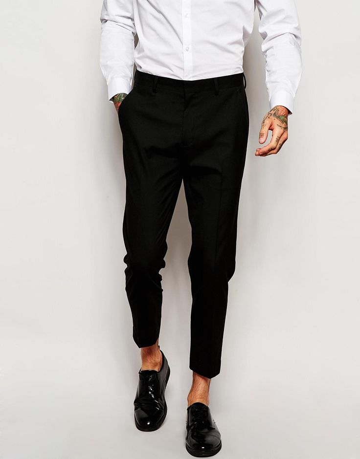 ASOS Skinny Cropped Suit Trousers