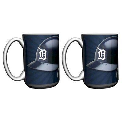 MLB Detroit Tigers Boelter 15 oz Burst Mug 2-Pack
