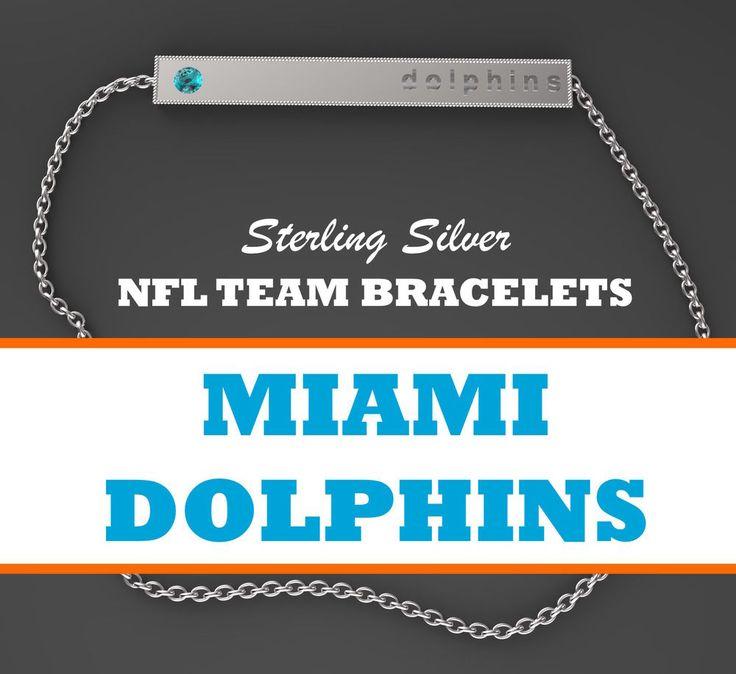 Womens NFL Jewelry Miami Dolphins Sterling Silver Bar Bracelet w/ Turquoise CZ #BarBracelet #MiamiDolphins #newyorkgiants #giants #newyork #newyorkjets #newyork #jets #oaklandraiders #raiders #oakland #philadelphiaeagles #eagles #philadelphia #philly #pittsburghsteelers #steelers #pittsburgh #sandiegochargers #chargers #sandiego #losangeles #lachargers #sanfrancisco49ers #49ers #sanfrancisco #seattleseahawks #seahawks #seattle #stlouisrams #rams #stlouis #losanglesrams #larams #la
