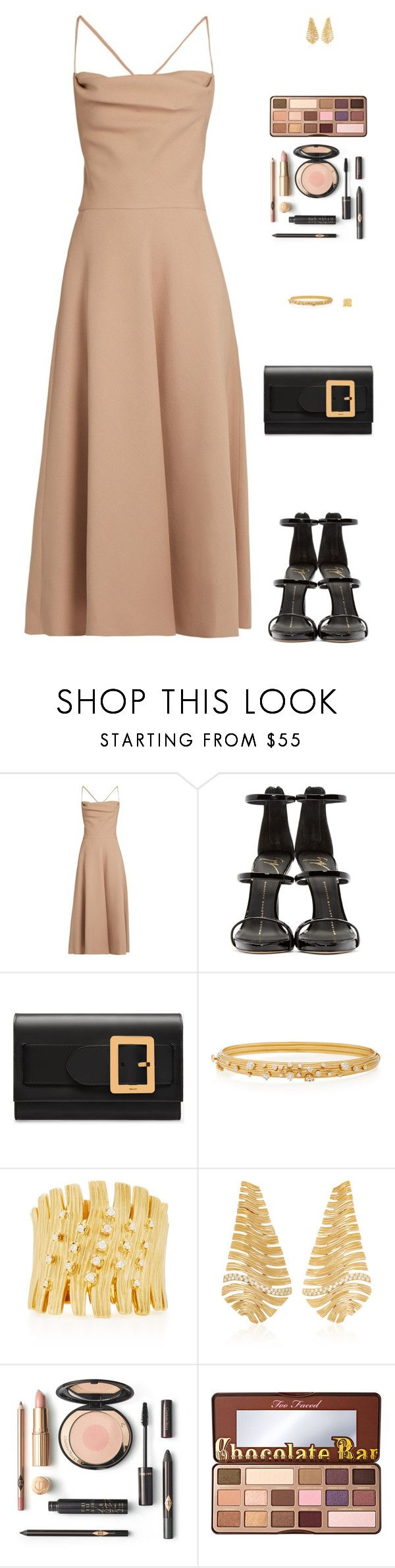 """Sin título #4882"" by mdmsb on Polyvore featuring moda, Valentino, Giuseppe Zanotti, Bally, Hueb y Too Faced Cosmetics"