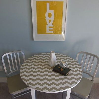 Want to do something like this with my dining room table. Maybe with stain instead of paint?