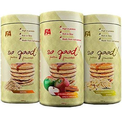 Kilka sposobów na zwiększenie wartości odżywczych i smakowych naleśników owsianych:  Posmarować  masłem orzechowym lub miodem  Polać syropem klonowym, musem owocowym albo naturalnym jogurtem  Dodać świeże owoce sezonowe, gorzką czekoladę lub orzechy, migdały  Sposób przygotowania naleśników:  3 miarki (75 g) wymieszaj przez 3 min. z 75 ml wody lub mleka i usmaż na patelni około 2 min. z każdej strony. Sposób widoczny także na filmie poniżej.  www.dso.pl
