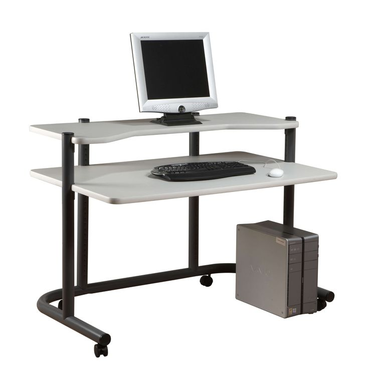 """Lowest price on Calico Designs Pewter and Grey 48""""Computer Workstation  18650. Shop today!"""