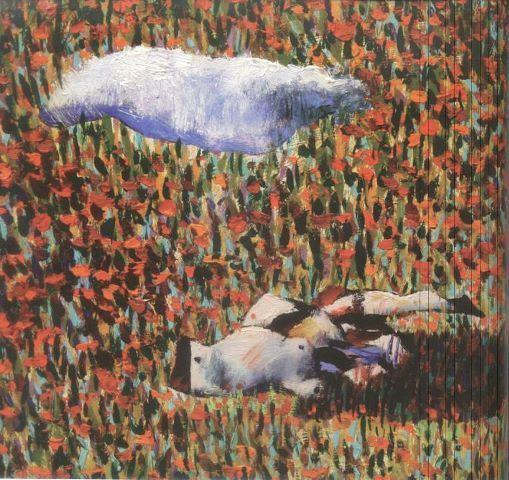 Composicion con nube y mujer en pedazos - German Londoño
