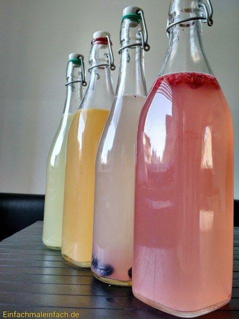 Fruchtige Wasserkefir-Limonade - ausführlich erklärt inkl. 2. Fermentation - bedeutend simplere Herstellungsart als auf vielen anderen deutschsprachigen Websites