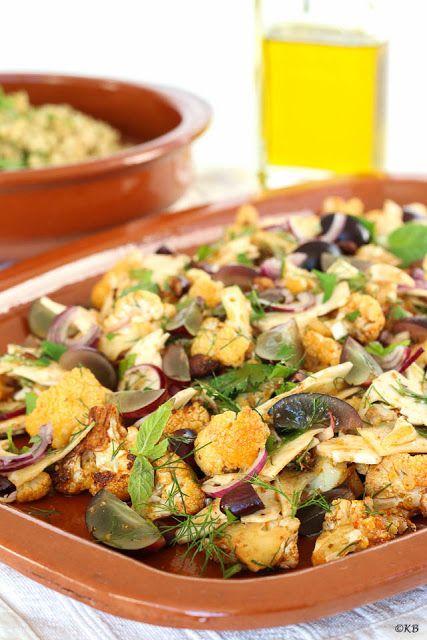 Huis, tuin en keukenvertier: Pittige geroosterde bloemkoolsalade met druiven en...