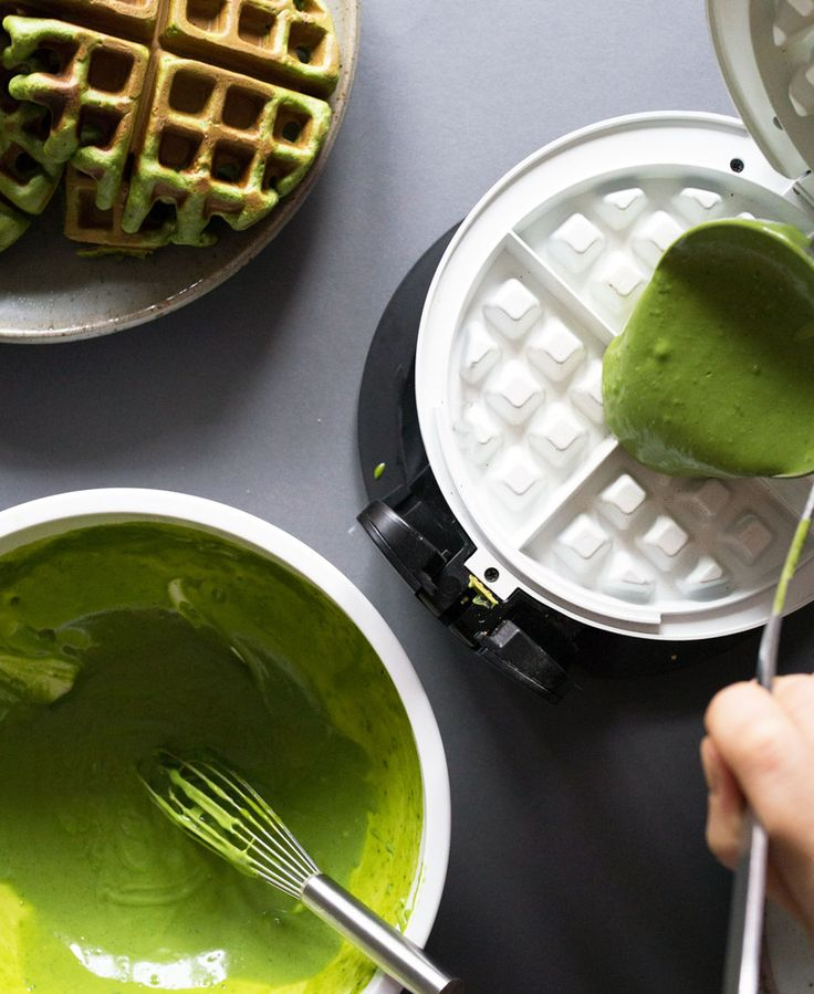 How to make Matcha (Green Tea) Waffles
