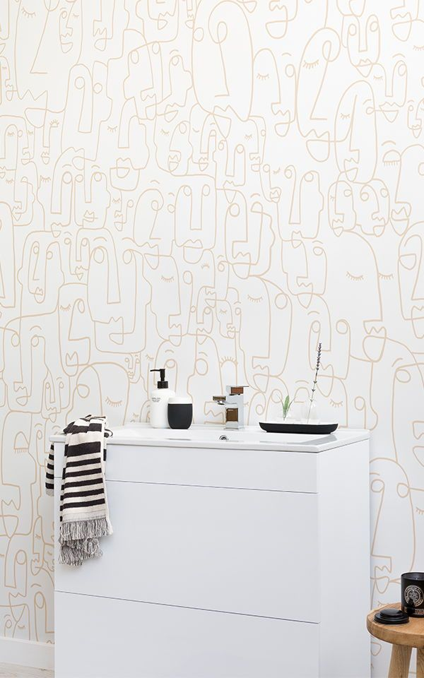 Create A Clean And Modern Bathroom Space With White Wallpapers Murals Adding Texture Effect Wallpaper Beautiful Designs To Your
