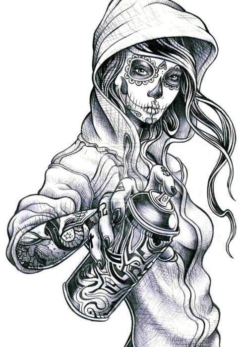 SUGER SKULL love the face and hair