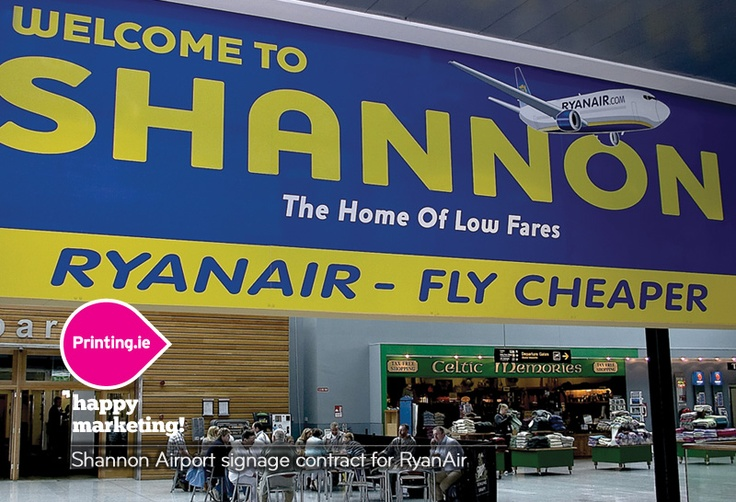 Shannon Airport signage contract for RyanAir