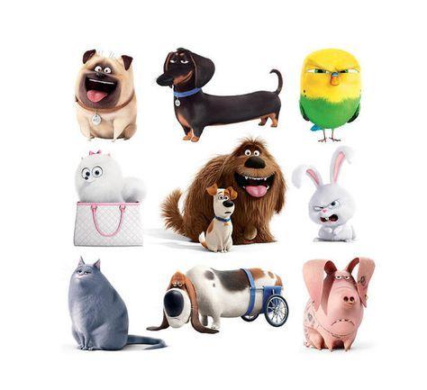 La vida secreta de las mascotas.  15 imágenes digitales con fondo transparente (archivo PNG).  Puede imprimir estas imágenes en tarjetas, invitaciones, pegatinas, fiestas decoraciones infantiles etc..  ZipArchive.