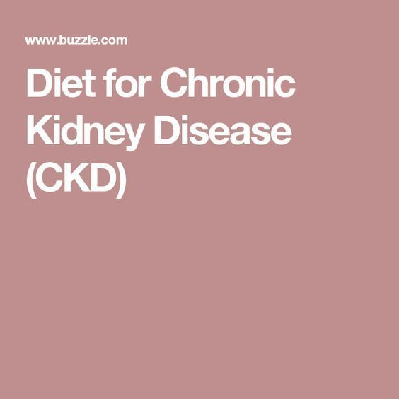 Diet for Chronic Kidney Disease (CKD)