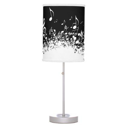 music explosion black and white desk lamp - black and white gifts unique special b&w style