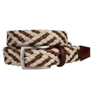 Cintura Intrecciata cuoio e Jeans - BRUCLE