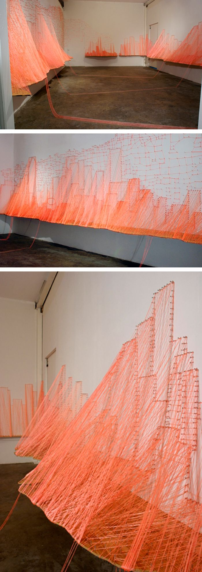Aili Schmeltz - The Magic City String Art Installation