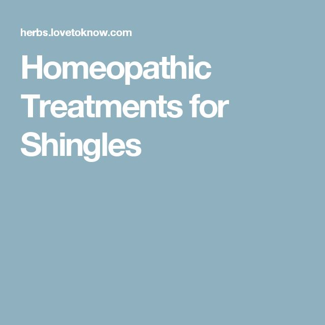 Homeopathic Treatments for Shingles