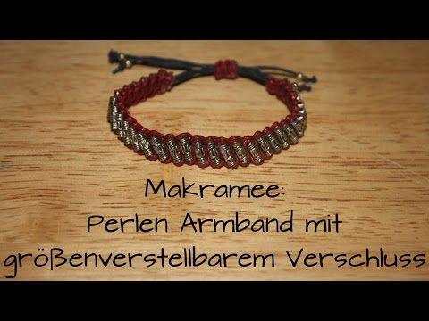 Makramee: Perlen- Armband mit größenverstellbarem Verschluss | DIY - YouTube