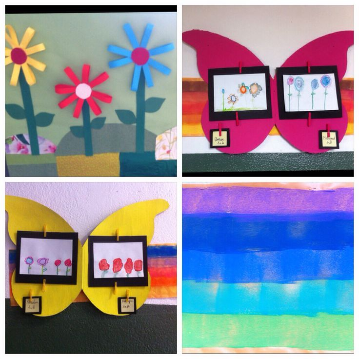 Celebrating spring with flowers, butterflies and bright colours along the corridor #schooldecoration #schooldisplay