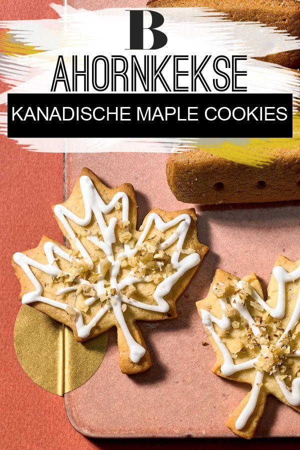 Kanadische Maple Cookies Ahornplatzchen Rezept Ahorn Kekse Kanadische Rezepte Weihnachtsgeback Rezepte