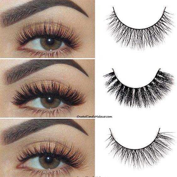 False Eyelashes No Magnetic Ellipse Flat Eyelashes Women's ...