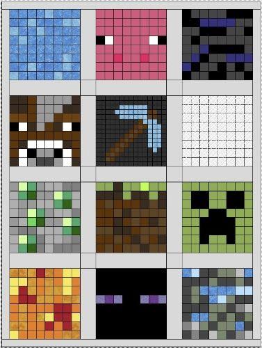 Minecraft Quilt Layout