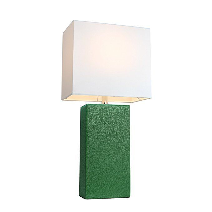 Elegant Designs LT1025 TEL Modern Leather Table Lamp with