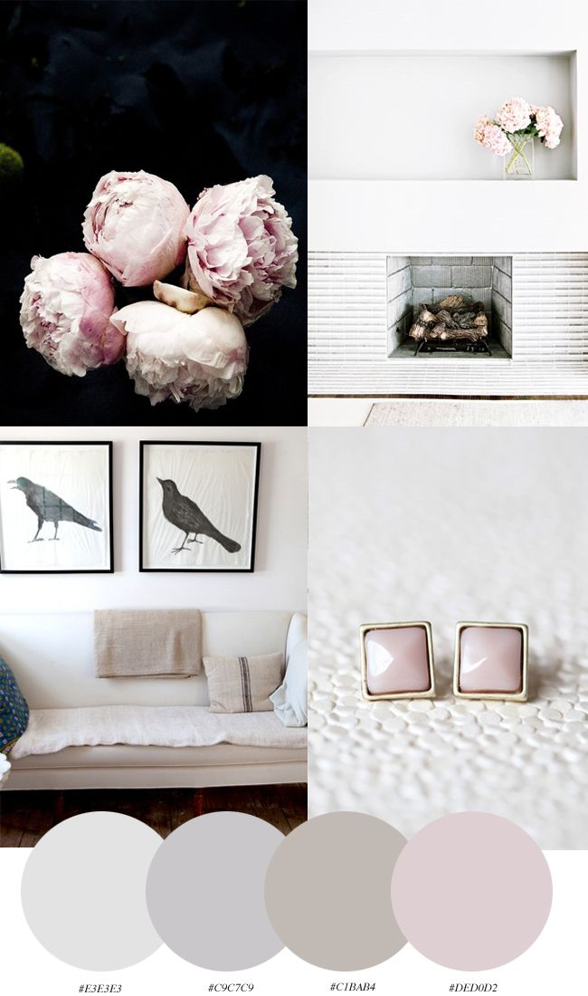 dove gray + beige + pale pink = sophisticated pastel neutrals