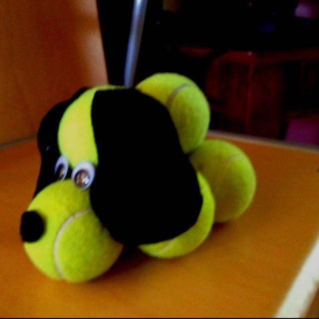 Tennis ball dog